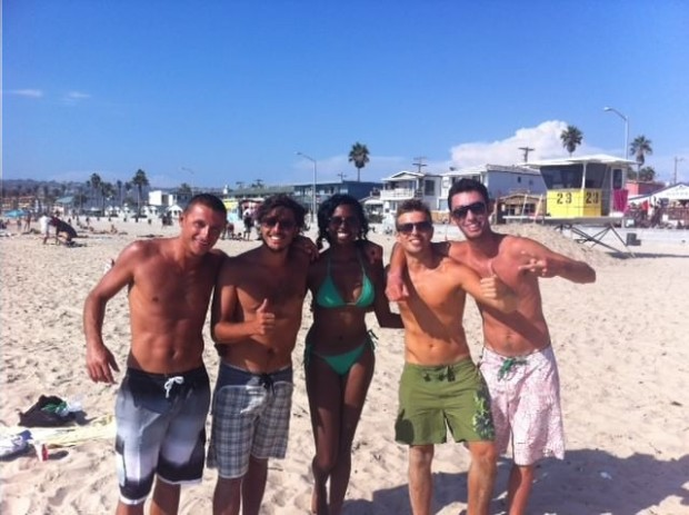 Some italian guys i met on the beach, a girl gets a lot of attention when shes traveling alone.......