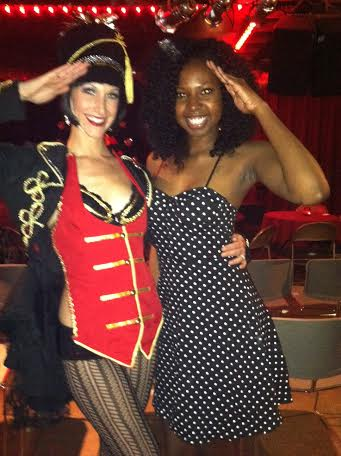 Mee and Lilly LaFleur at the Christmas Cabaret