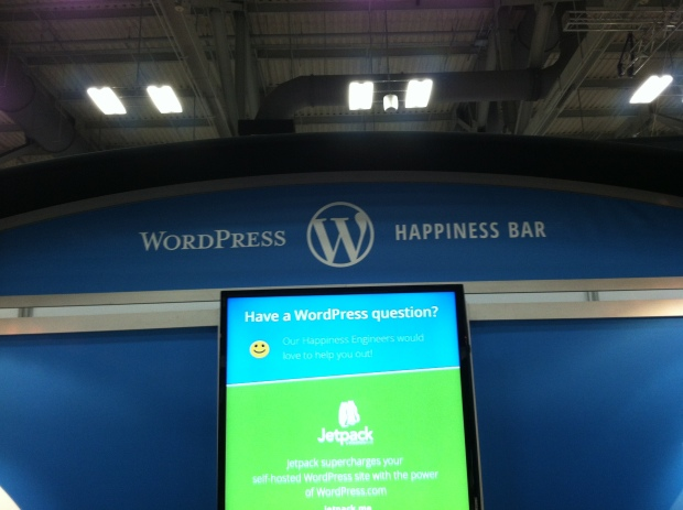 Word Press booth at the trade show!