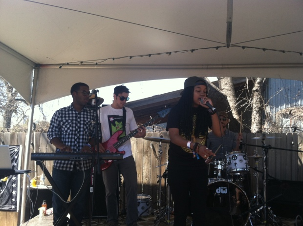 The Chronicle threw a day party and of course there was live music, this here is Magna Carda!