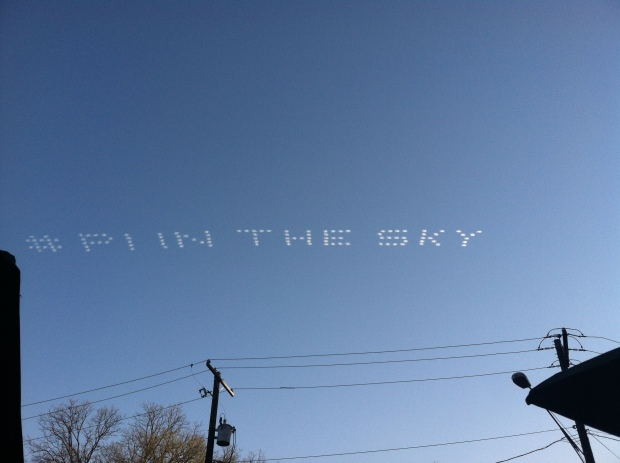 Pi in the Sky! Not sure of the significance but it was cool to watch!