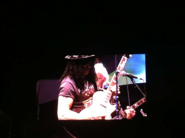 I even got to see a living legend, a guitar god, rock royalty. SLASH.