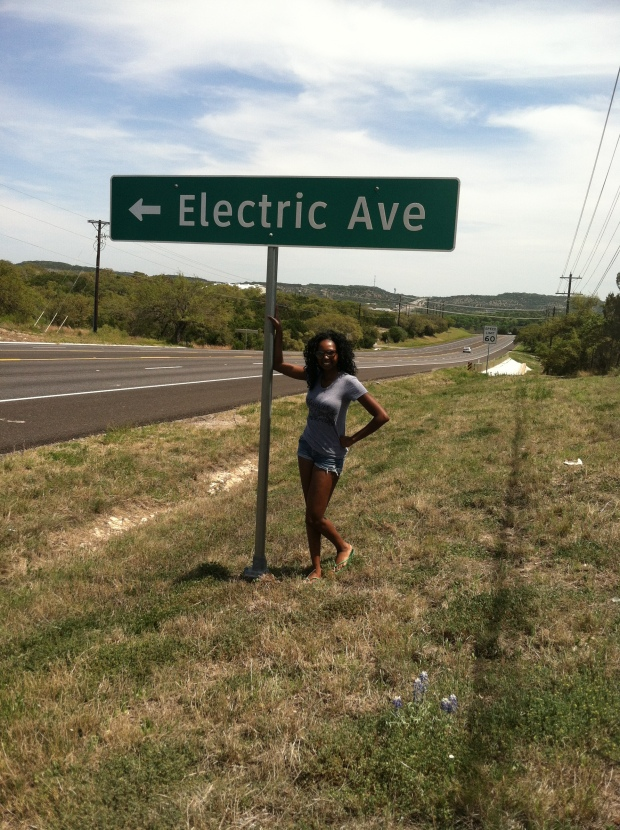 1st rule of road tripping is to rock down to Electric Ave